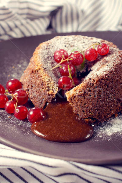Homemade lava cake Stock photo © badmanproduction
