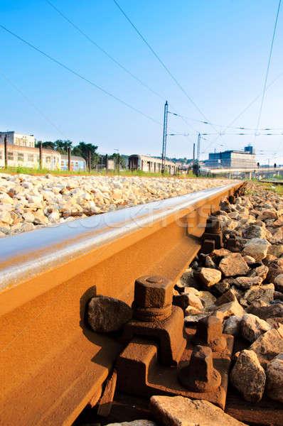 Chemin de fer Belgrade Serbie fond train Rock Photo stock © badmanproduction