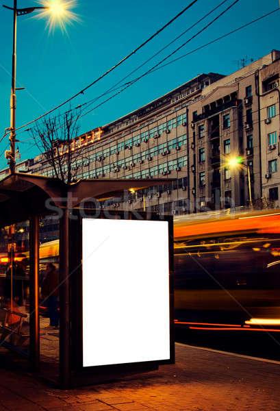 Billboard on the station Stock photo © badmanproduction