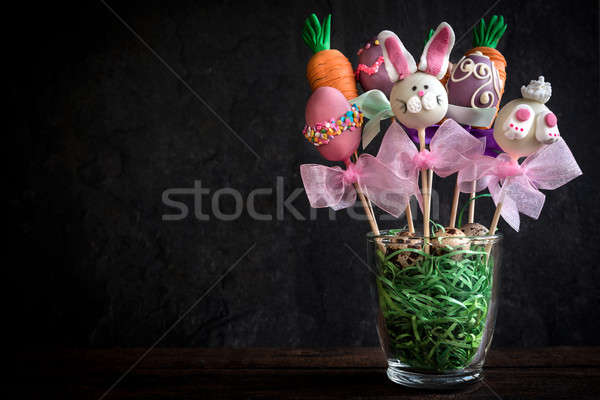 Sweet Easter cake pops Stock photo © badmanproduction