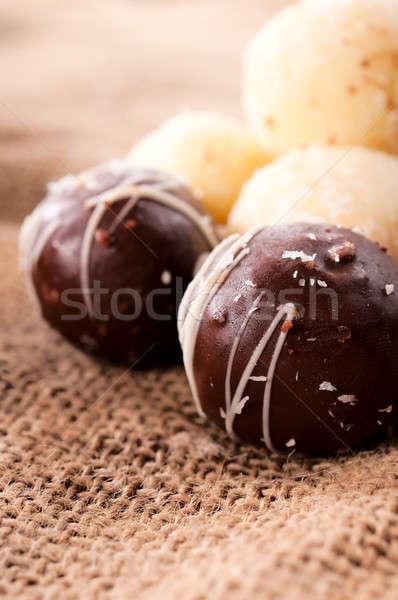 Chocolate praline Stock photo © badmanproduction