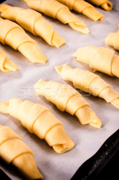 Croissant preparation Stock photo © badmanproduction