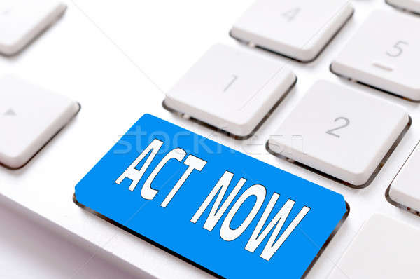Act now button Stock photo © badmanproduction