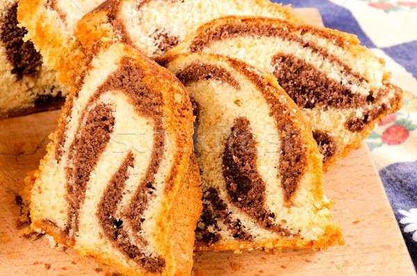 Nyami torta szeletek édes izolált senki Stock fotó © badmanproduction