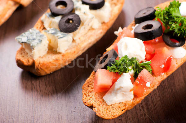 Bruchetta mini Stock photo © badmanproduction