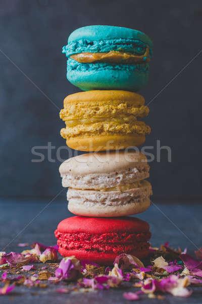 Сток-фото: домашний · башни · красочный · торт · зеленый · десерта