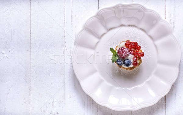 Served mini tarts Stock photo © badmanproduction