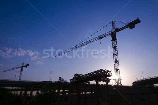 Retour lumière construction Belgrade bâtiment Photo stock © badmanproduction
