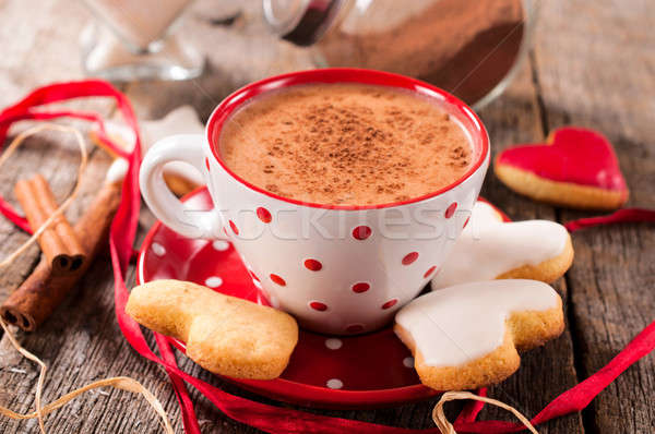 Hot cocoa drink Stock photo © badmanproduction