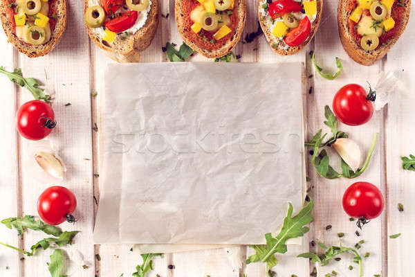 Empty papper Stock photo © badmanproduction