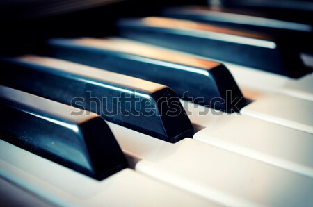 Piano keyboard Stock photo © badmanproduction