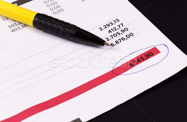Regelmatig factuur pen business kantoor papier Stockfoto © badmanproduction