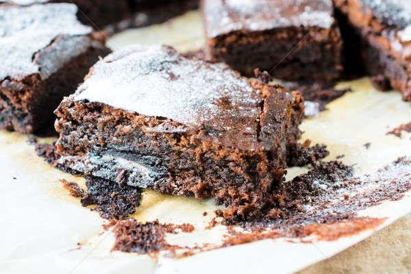 Sweet brownies Stock photo © badmanproduction