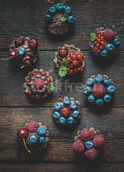 Mini fruto chocolate sobremesa Foto stock © badmanproduction