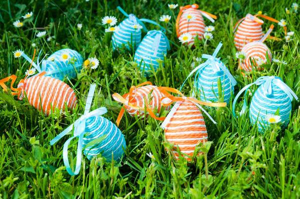 Decorative eggs Stock photo © badmanproduction