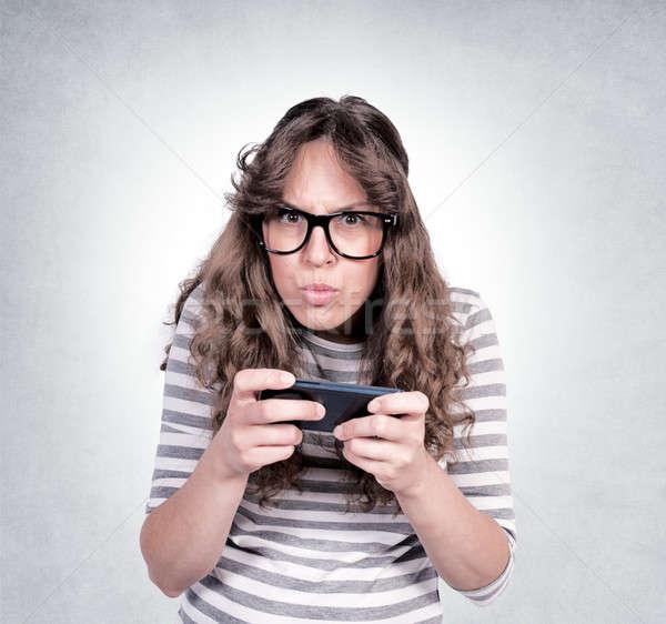 Angry female Stock photo © badmanproduction