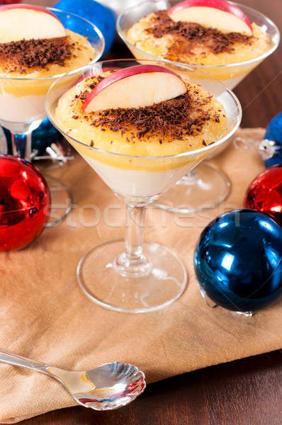 Semolina pudding in fancy glass Stock photo © badmanproduction