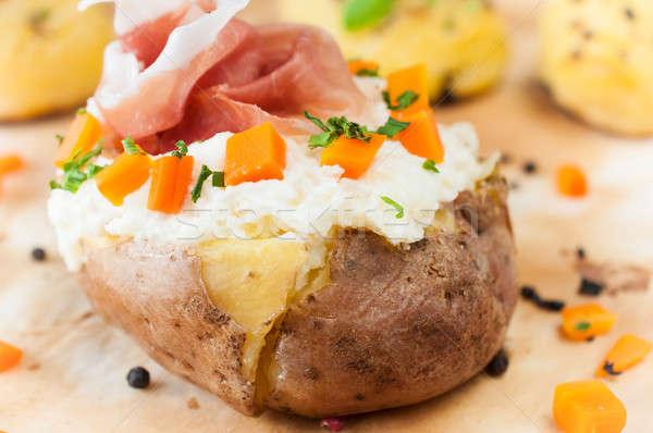 Stuffed potatoe Stock photo © badmanproduction