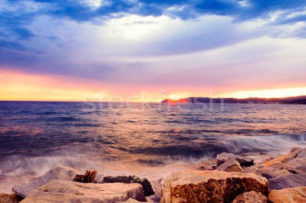 Stock photo: Beach sunset