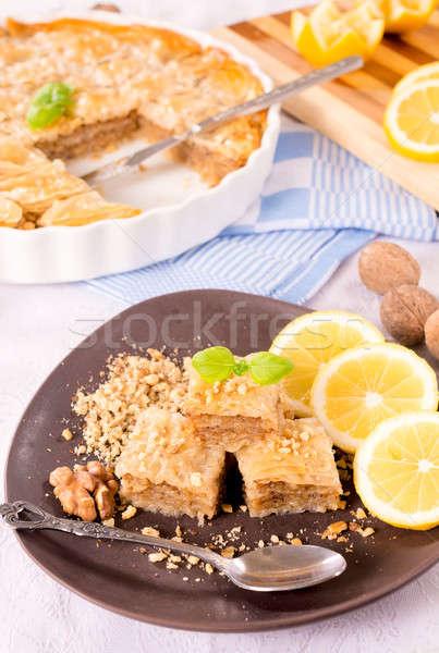 Baklava cake Stock photo © badmanproduction