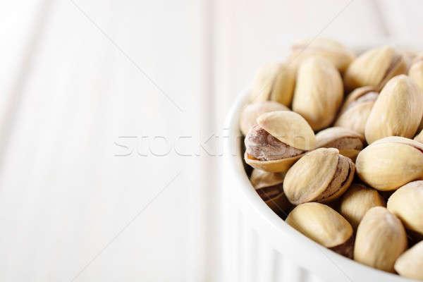 Tas pistache tasse côté accent Photo stock © badmanproduction