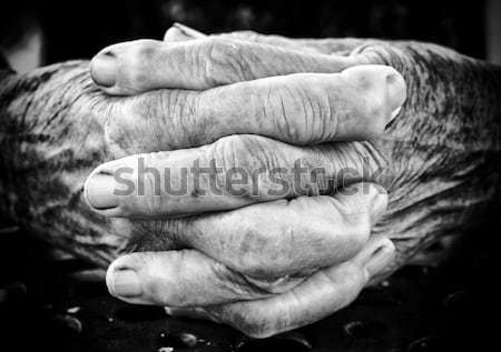 Old female hands Stock photo © badmanproduction