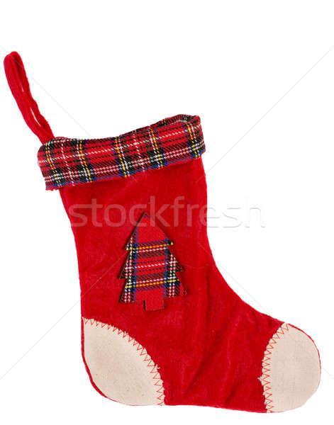 Christmas sok lege Rood witte geïsoleerd Stockfoto © badmanproduction