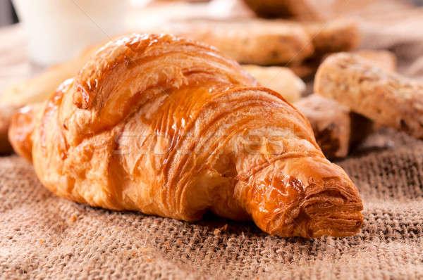 French croissant Stock photo © badmanproduction