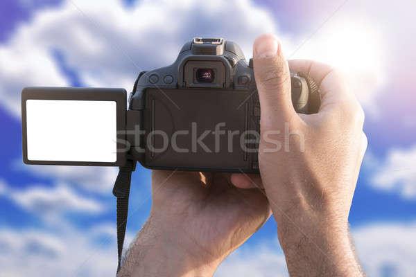Blank screen on camera Stock photo © badmanproduction
