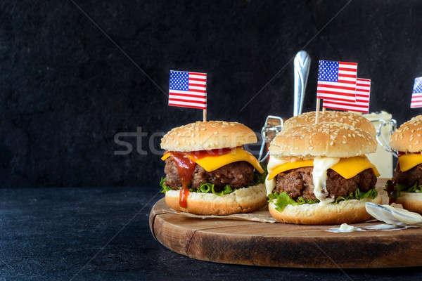 Beef burgers Stock photo © badmanproduction
