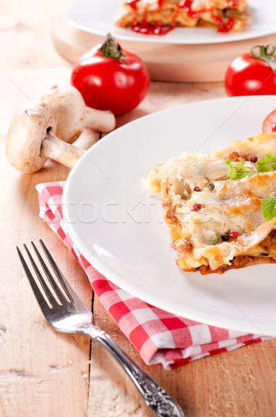 Italian meat pie Stock photo © badmanproduction