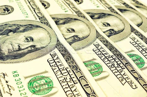Stock fotó: Amerikai · dollár · szelektív · fókusz · portré · egy · száz