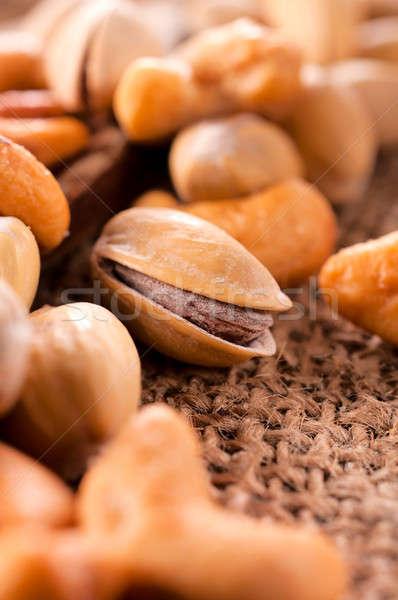 Pistache milieu mise au point sélective nature santé groupe Photo stock © badmanproduction