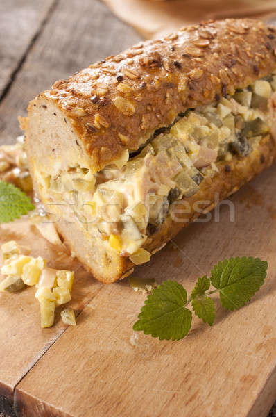 Single sandwich Stock photo © badmanproduction