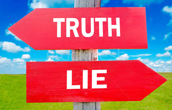 Truth or lie  Stock photo © badmanproduction