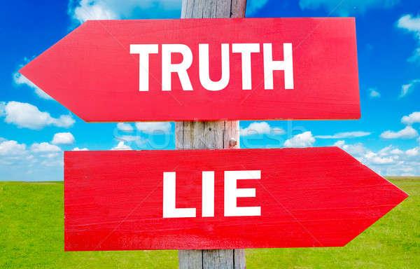 Verdad mentir manera elección estrategia Foto stock © badmanproduction