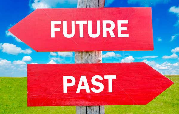 Jövő múlt választás mutat stratégia apró Stock fotó © badmanproduction