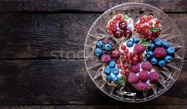 Homemade mini tarts Stock photo © badmanproduction