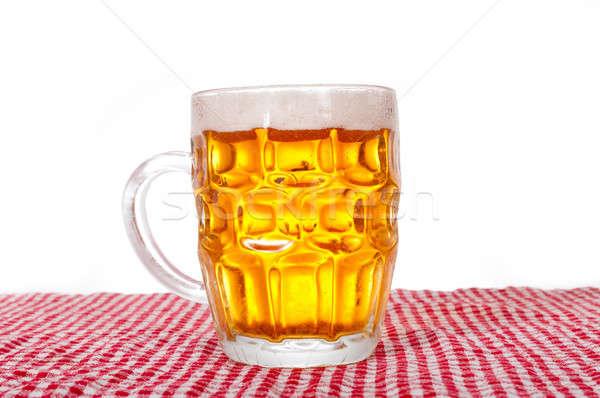 Quartilho cerveja isolado branco festa luz Foto stock © badmanproduction