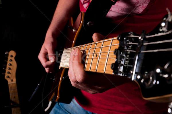Guitar rime  Stock photo © badmanproduction