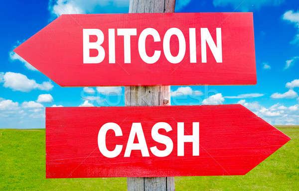Contanti bitcoin modo scelta strategia Foto d'archivio © badmanproduction