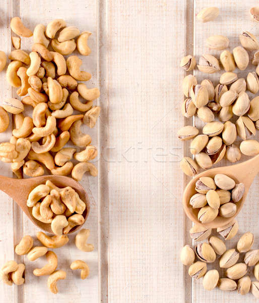Nuts on the table Stock photo © badmanproduction