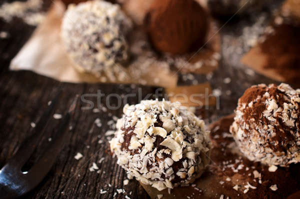 белый темный шоколад здоровья шоколадом настоящее десерта Сток-фото © badmanproduction