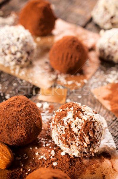 Foto stock: Doce · chocolate · foco · festa
