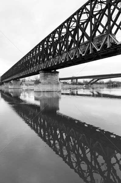 Bridge reflection Stock photo © badmanproduction