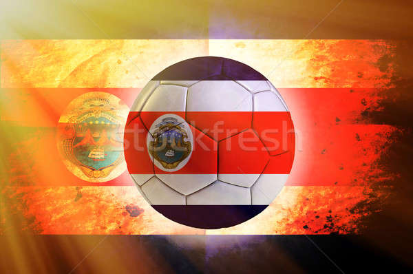Bal voetbal vlag sport wereld voetbal Stockfoto © badmanproduction