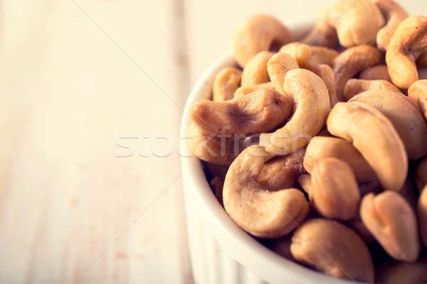 Noten selectieve aandacht moer ruimte vruchten gezondheid Stockfoto © badmanproduction