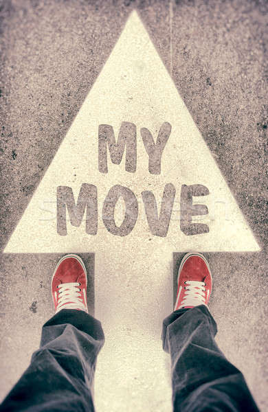My move concept Stock photo © badmanproduction