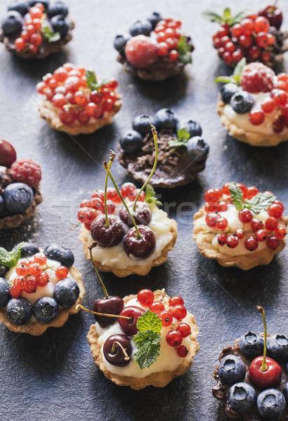 Dulce torta casero mini tarta pudín Foto stock © badmanproduction