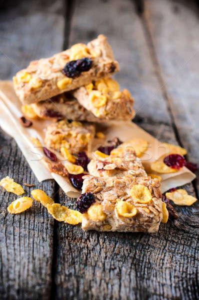 Kızılcık odak kurabiye ev Stok fotoğraf © badmanproduction